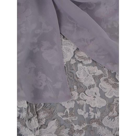 be704426f9c730 Koronkowa sukienka z szyfonowym szalem 14902, pastelowa kreacja na ...
