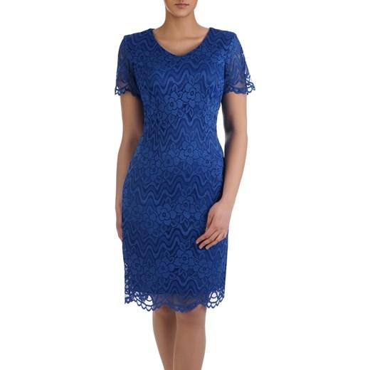19cc21db Sukienka na wesele Armida III, elegancka kreacja z koronki. Modbis