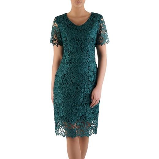 Sukienka na wesele Gracia XIV, elegancka kreacja z gipiury