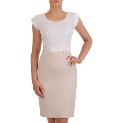 b01154880e0bed Sukienka na wesele Resina V, elegancka kreacja z tkaniny. Modbis w Domodi