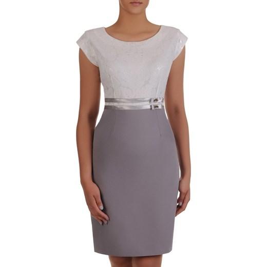 50baffbb4718d8 Sukienka na wesele Resina VI, elegancka kreacja z tkaniny. Modbis w ...