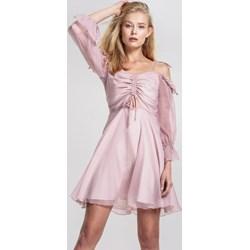 dd77e7a67a Sukienka Renee elegancka rozkloszowana z długim rękawem