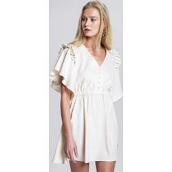 df5d785e4e Sukienka Renee casual mini gładka z dekoltem w serek