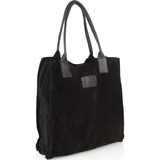f6cdd288c4c6f ... Czarna torebka zamszowa Arturo Vicci uniwersalny promocyjna cena ...