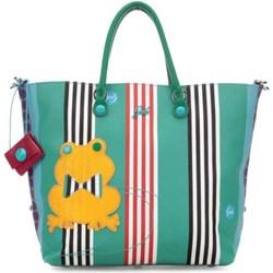 27ae506cefcf0 Shopper bag Gabs w stylu młodzieżowym do ręki z breloczkiem ze zdobieniami