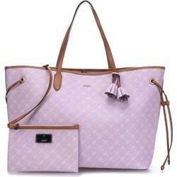 f559c9a17c189 Shopper bag Joop! różowa mieszcząca a6 ze skóry na ramię