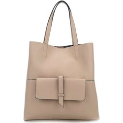 7ec0d19bf8972 Shopper bag Titan duża bez dodatków matowa skórzana