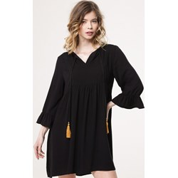 683ce42785 Sukienka czarna Born2be z długim rękawem mini