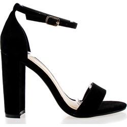 972584c4 Sandały damskie Fashion eleganckie z zamszu na wysokim obcasie na słupku