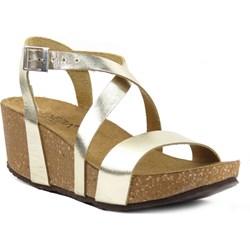 5257e277 Sandały damskie Venezia bez wzorów na obcasie ze skóry na średnim