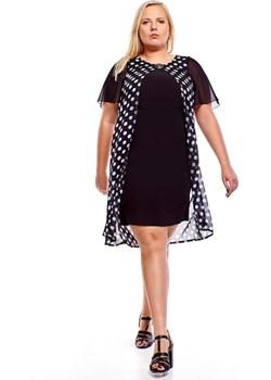 Sukienka FSU1002 CZARNY + BIAŁY duże kropki Fokus  fokus.pl - kod rabatowy