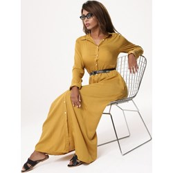 677a20c3e9d44 Sukienka żółta Born2be wiosenna koszulowa