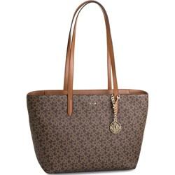1b32dbc397c0f6 Brązowa shopper bag Dkny duża na ramię