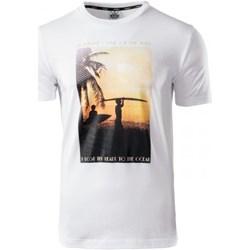 9c7a19cd3 T-shirt męski Aquawave biały w nadruki z poliestru