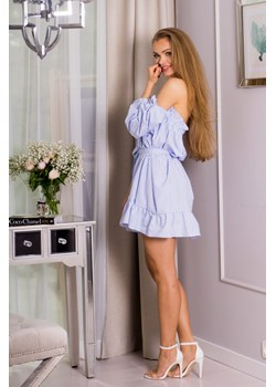 Sukienka hiszpanka niebieska  Kropa Style Stardust Butik  - kod rabatowy