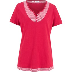 966210a116892e Czerwona bluzka damska Bonprix z krótkim rękawem