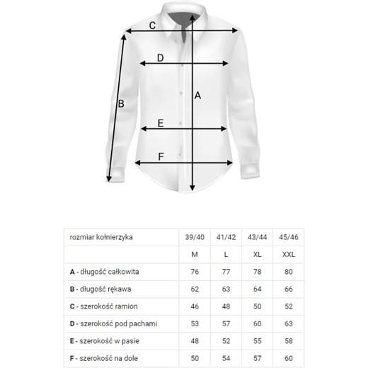 5e99a5243 Sefiro koszula męska z tkaniny z kołnierzykiem button down z długim rękawem  w Domodi