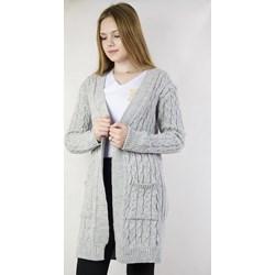 69f9561ec56352 Sweter damski Olika bez wzorów z dekoltem v