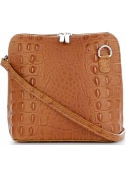Torebki Skórzane Listonoszki wzór krokodyla Genuine Leather Made in Italy Rude (kolory)  Genuine Leather torbs.pl - kod rabatowy
