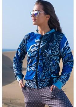 Bluza Bomberka Ornament Silver - NA-9D2 Nessi Sportswear   - kod rabatowy