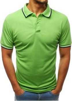 Koszulka polo męska zielona (px0222) Dstreet   wyprzedaż  - kod rabatowy