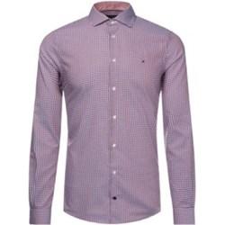 c279b896e2dd4 Tommy Hilfiger koszula męska elegancka różowa bez zapięcia