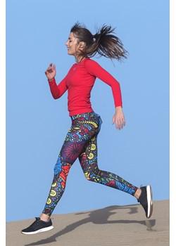 Kolorowe Legginsy Mosaic Reef - OSLK-9M1 Nessi Sportswear   - kod rabatowy