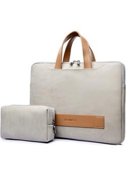 """Etui/torba JQ na laptopa 13,3"""" 14,1"""" eco skóra Kolor: beżowy   inBag - kod rabatowy"""