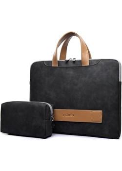 """Etui/torba JQ na laptopa 13,3"""" 14,1"""" eco skóra Kolor: czarny   inBag - kod rabatowy"""