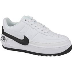 385fb980181bc Buty sportowe damskie Nike dla biegaczy w stylu młodzieżowym air force  białe ze skóry gładkie