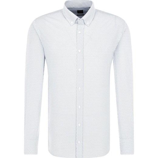 34126c3a Koszula męska Boss Casual gładka biała z długim rękawem