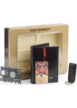 Zestaw prezentowy upominkowy męski dla niego portfel + brelok + karta survivalowa Peterson   - kod rabatowy