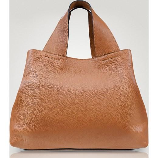 Shopper bag Allora skórzana na ramię