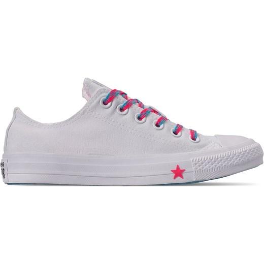 Trampki damskie Converse białe sznurowane gładkie