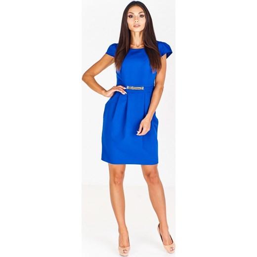 5424d3da9e79b1 Sukienka Monariss niebieska na spotkanie biznesowe wiosenna z ...