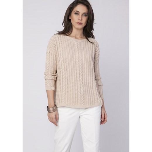 85% ZNIŻKI Sweter damski Mkm Knitwear Design z okrągłym