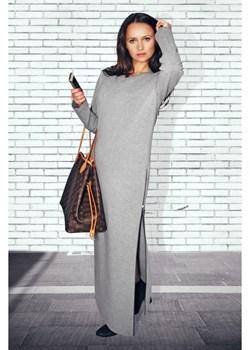 DŁUGA SUKIENKA TUBA Z ROZCIĘCIEM Bien Fashion   - kod rabatowy