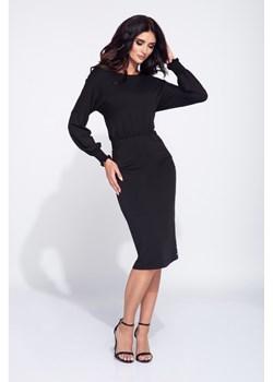 Sukienka z marszczeniami i dopasowanym dołem  Bien Fashion  - kod rabatowy