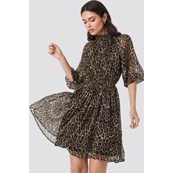 d0fecfe8 Sukienka NA-KD Boho mini z długim rękawem na spacer