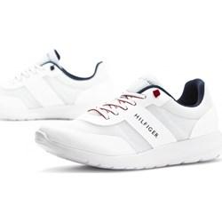 1506bc8c4b934 Buty sportowe męskie Tommy Hilfiger sznurowane młodzieżowe białe na wiosnę