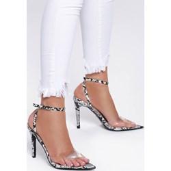 3b70c9d13b9313 Czarne sandały damskie Renee w zwierzęce wzory ze skóry ekologicznej