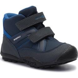 71210e40 Buty zimowe dziecięce Geox niebieskie na rzepy ...