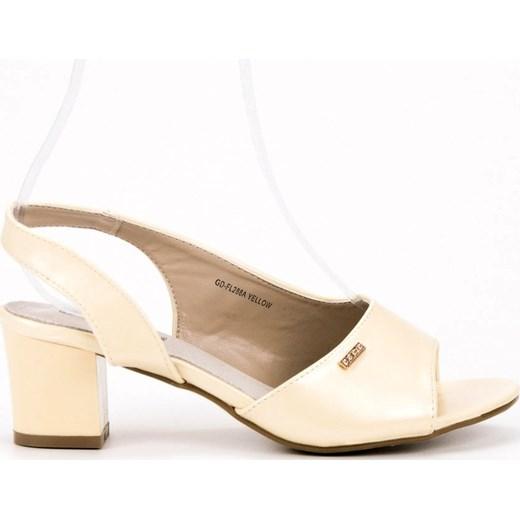 7366bac7 ... Sandały damskie Good-In bez zapięcia bez wzorów ze skóry ekologicznej  na średnim obcasie