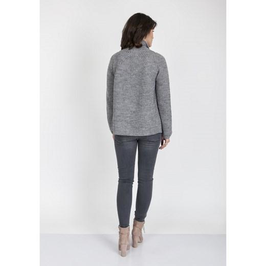 70% ZNIŻKI Sweter damski szary Mkm Knitwear Design Odzież