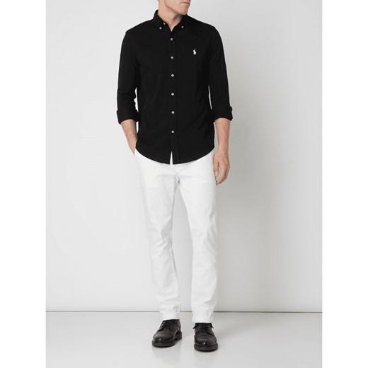 Koszula męska Polo Ralph Lauren czarna z kołnierzykiem  Z4ITP