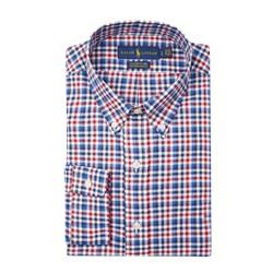 786d63230 Koszula męska Polo Ralph Lauren w kratkę jesienna z kołnierzykiem button  down z długim rękawem