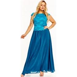 cd5ed7aa Sukienka Baque maxi na karnawał z okrągłym dekoltem z koronką