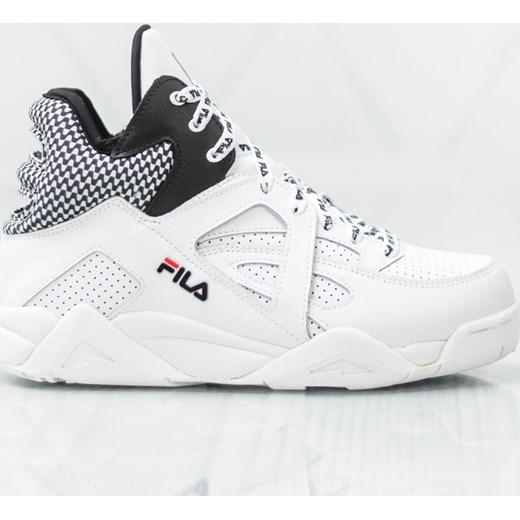 Buty sportowe damskie białe Fila na wiosnę sznurowane bez