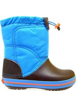 CROCS-Niebieskie Śniegowce 203509-4A5 Crocs  promocja  Me Too   - kod rabatowy