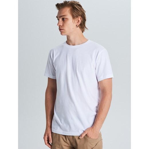 T shirt męski Cropp bez wzorów casual Odzież Męska CN biały
